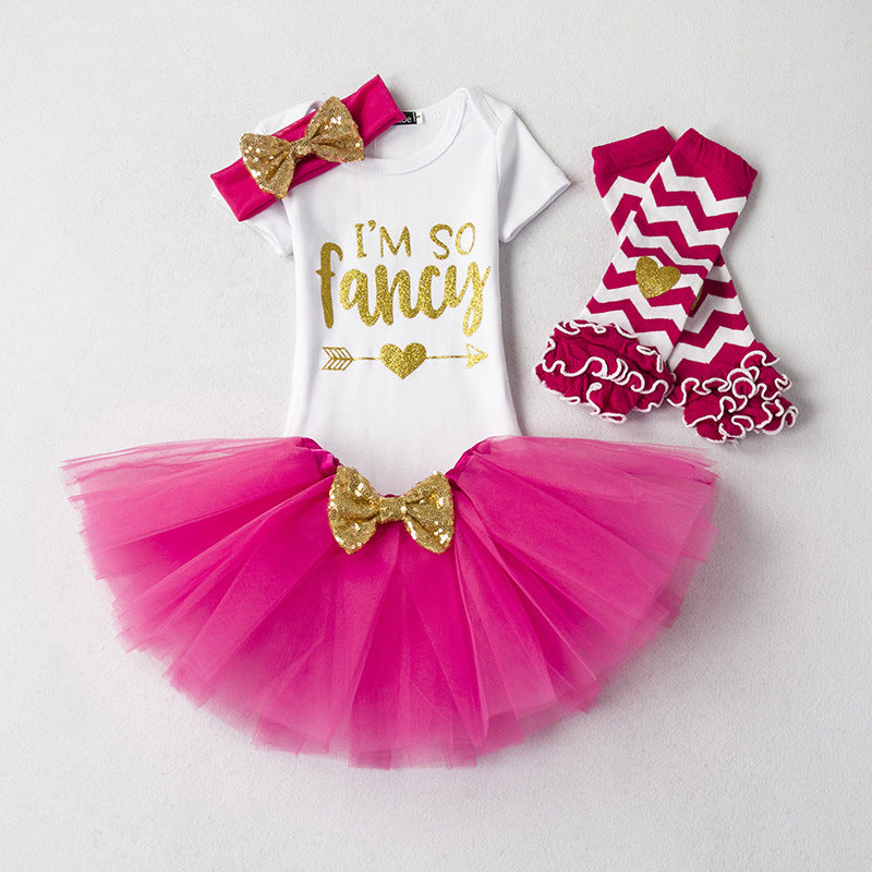 rose tutu dress with romper and skirts
