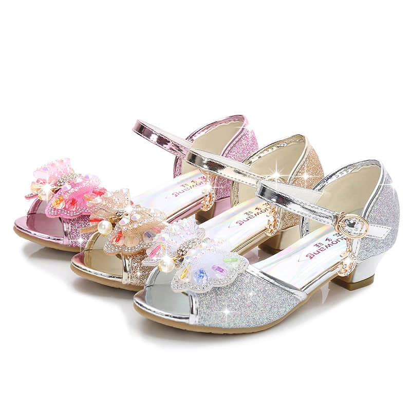 3 Colors Available for this Sweet Princess Wedding Sandals