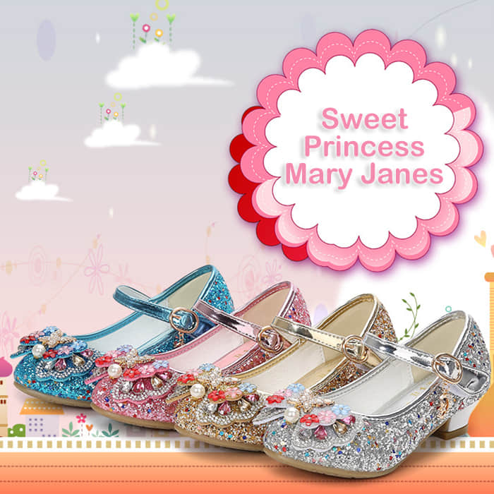 4 Colors Available for this Sweet Princess Wedding Shoes