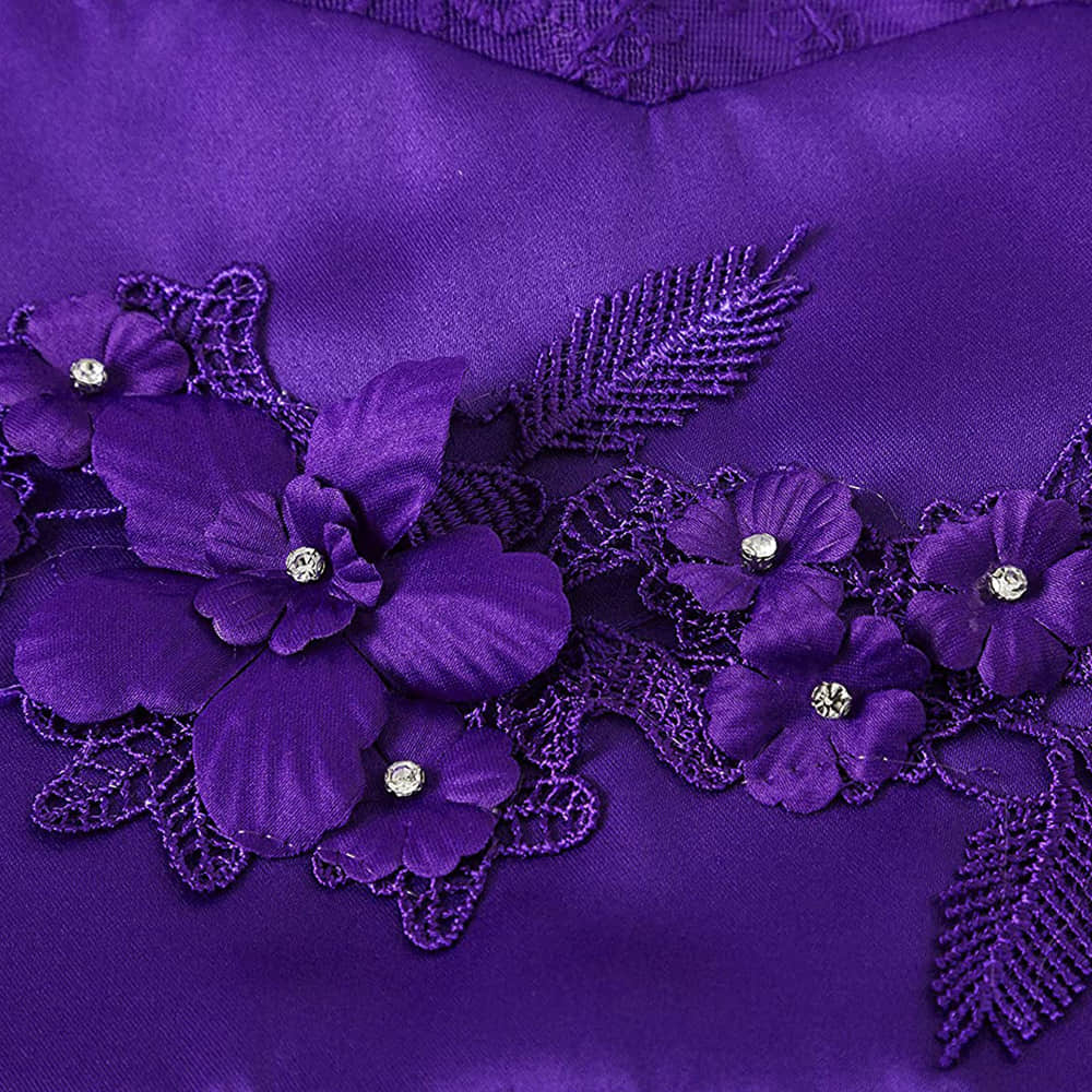 3D Flowers Embroidered on the Bodice