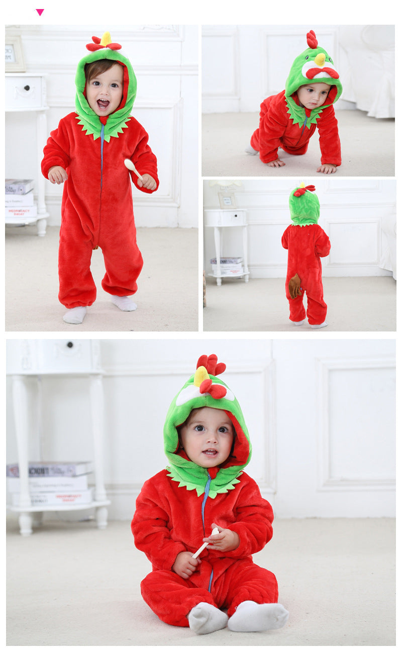 adorable_red_chicken_romper