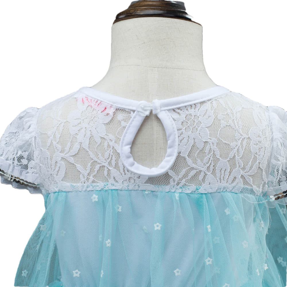 Frozen Snow Queen Princess Elsa Pattern Printed on the Bodice