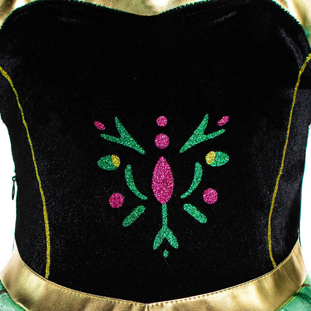 Black Bodice and Flower Pattern Printed on it