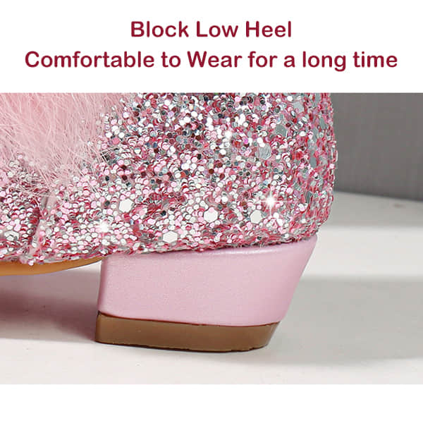Block Low Heel Comfortable for Wearing a long Time
