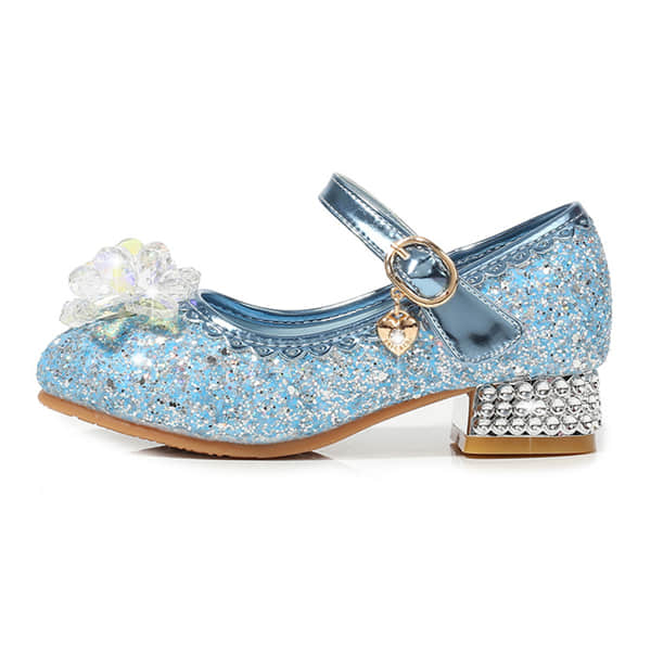 3 Colors Available for these Glitter Low Heel Shoes