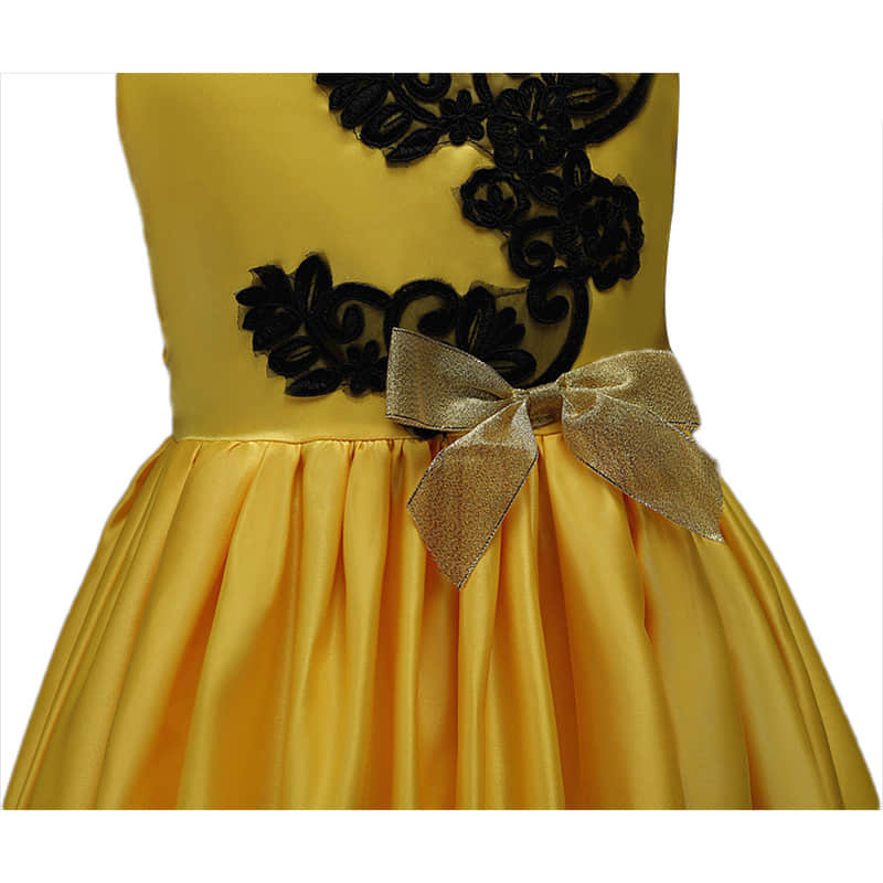 A Bow Decoration in the Waist