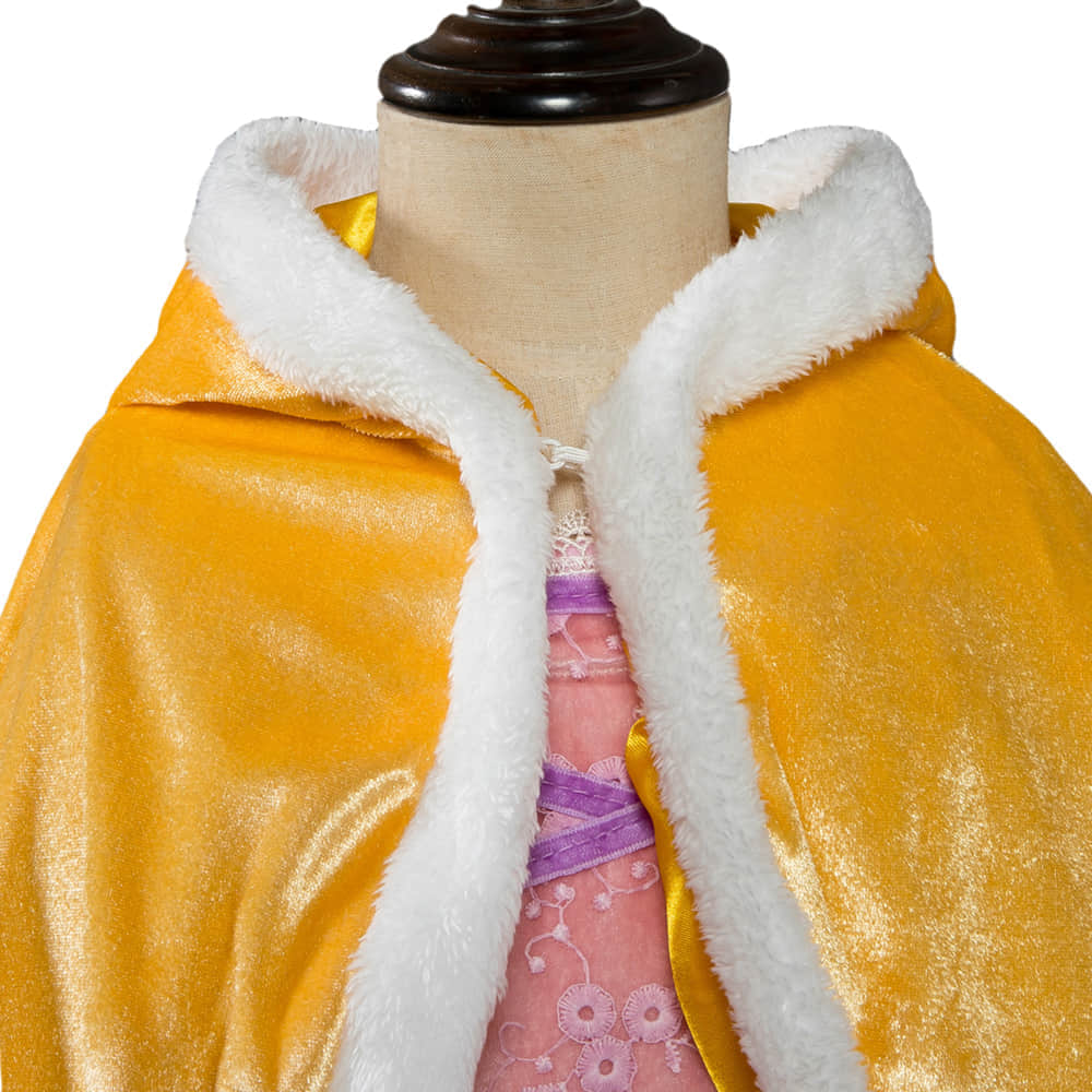 Button Closure Design with a Cape Keep Your Angle Warm
