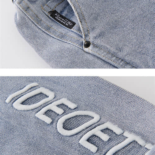 High Quality Cool Jeans with Tie for Toddler Girls