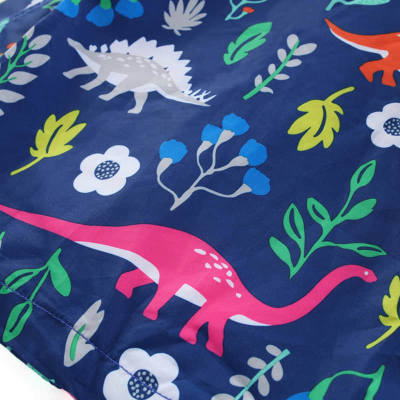 Adorable Dinosaur and Flowers Printed on the Jacket