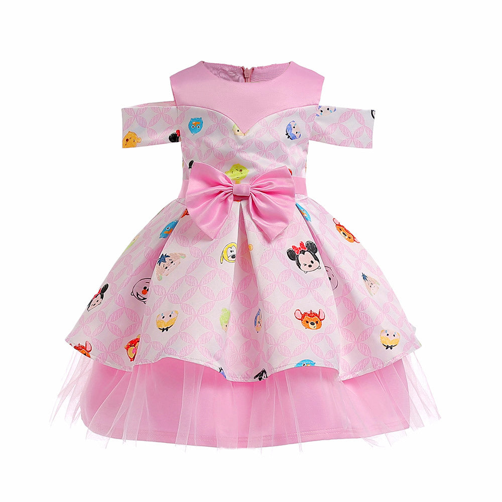 easter-dresses-for-girls-with-bowknot-pink