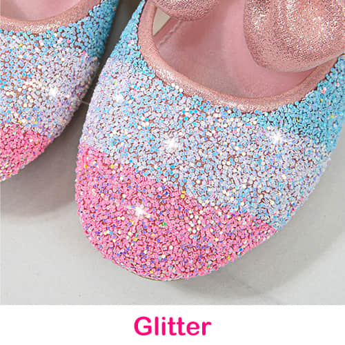 Rainbow Glitter on the Surface of the Shoes Make Them Elegant