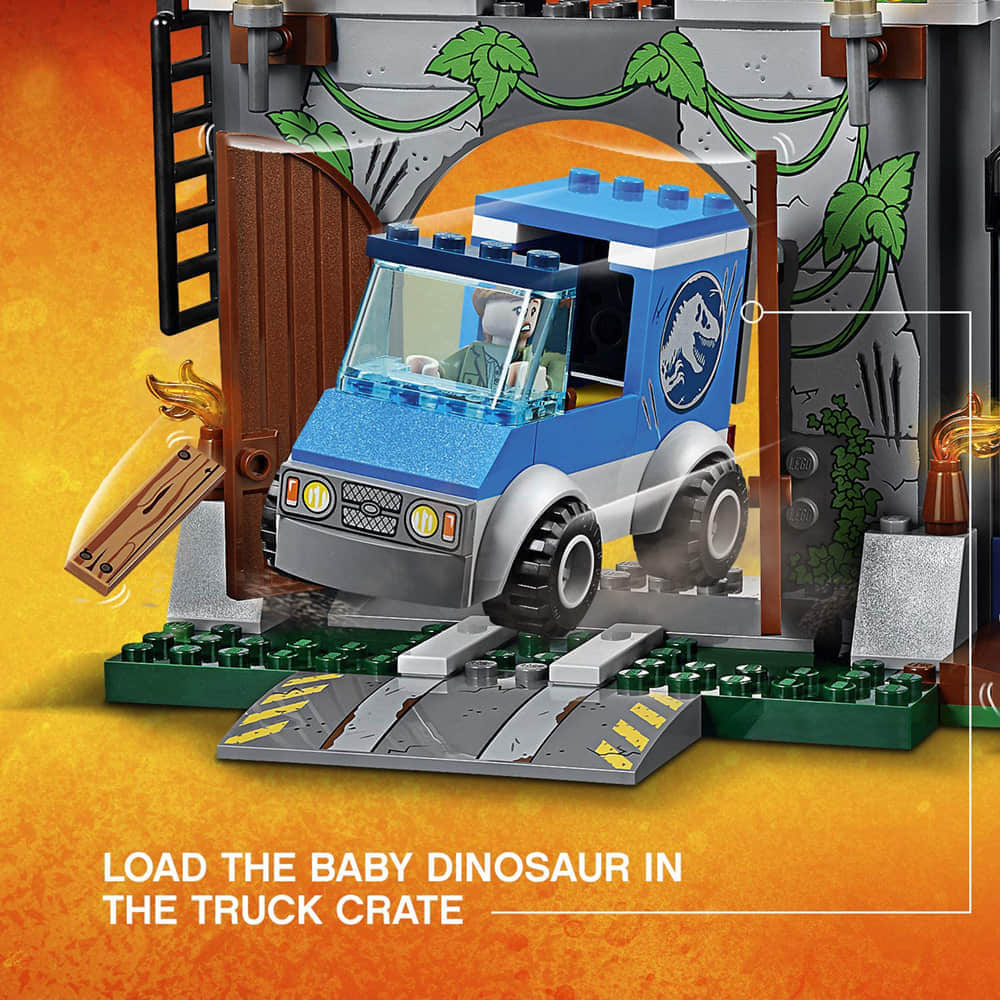 Load the Baby Dinosaur in the Truck Crate