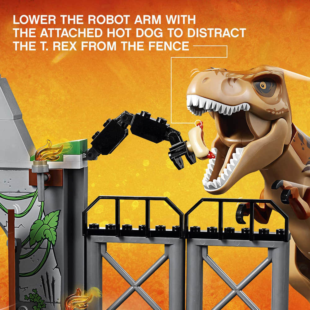 Lower The Robot Arm With the Hot Dog