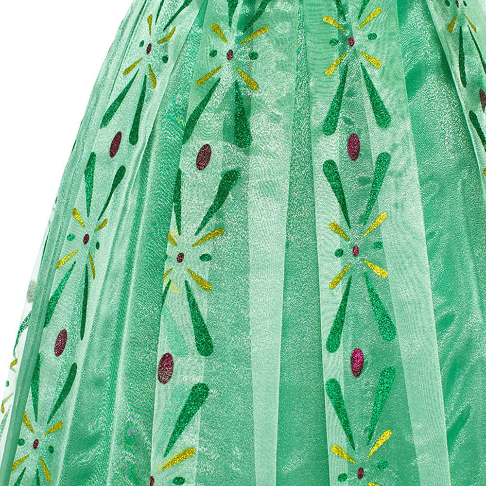 Multi-Layer Tulle Tutu Skirt with Flowers Pattern