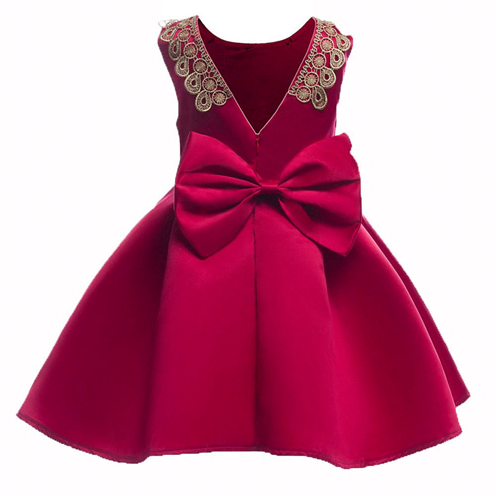 party-dress-rose-red-back-bowknot