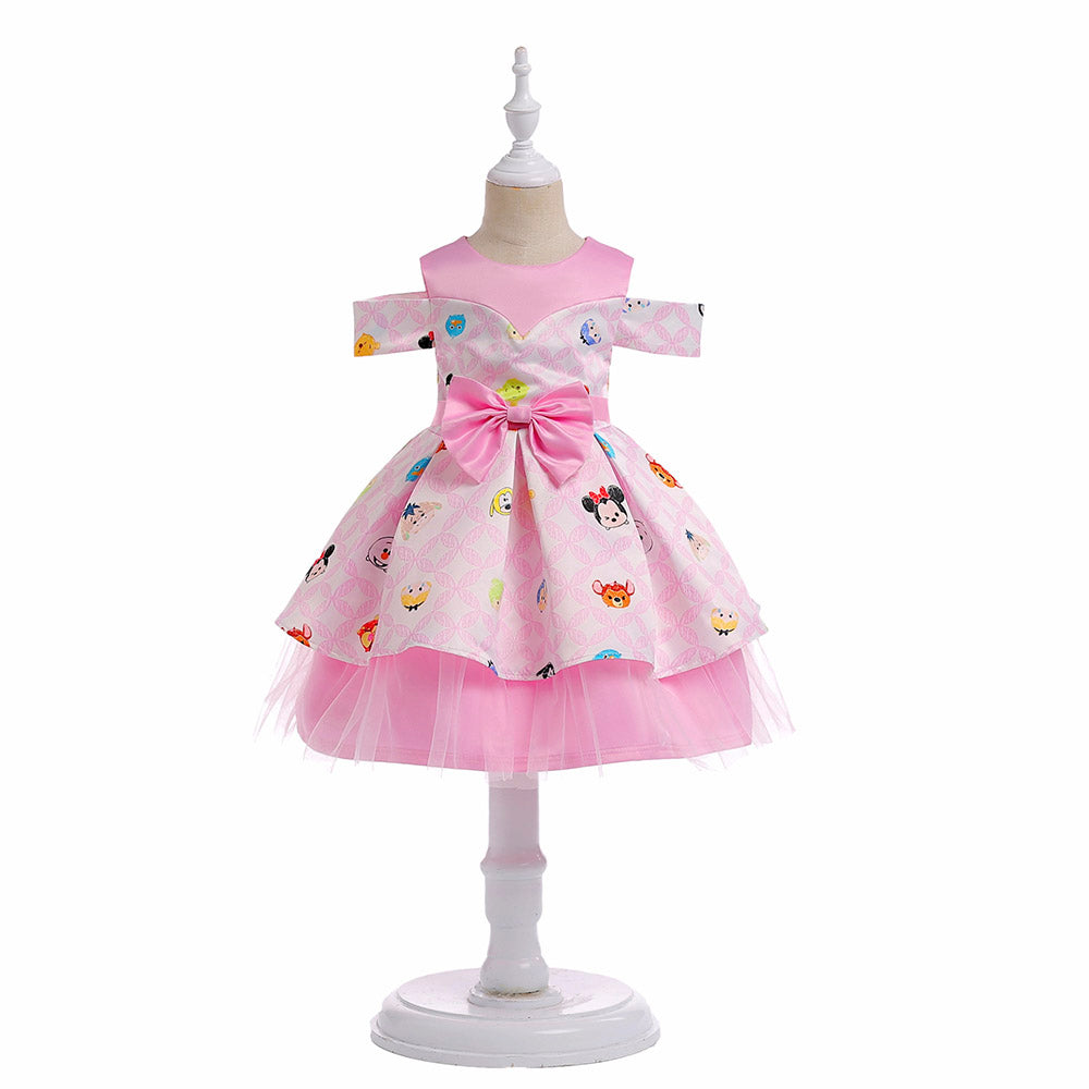 pink-cartoon-dresses-for-3-8-years-old