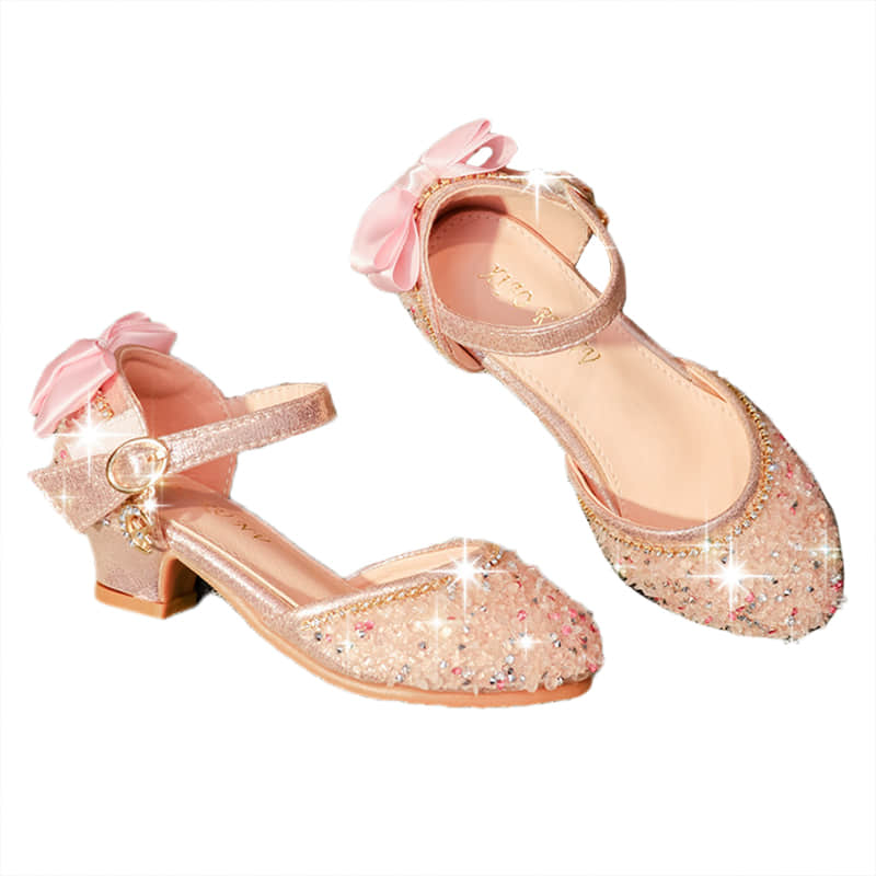 Bowknot Flower at Rear Make the Shoes Elegant