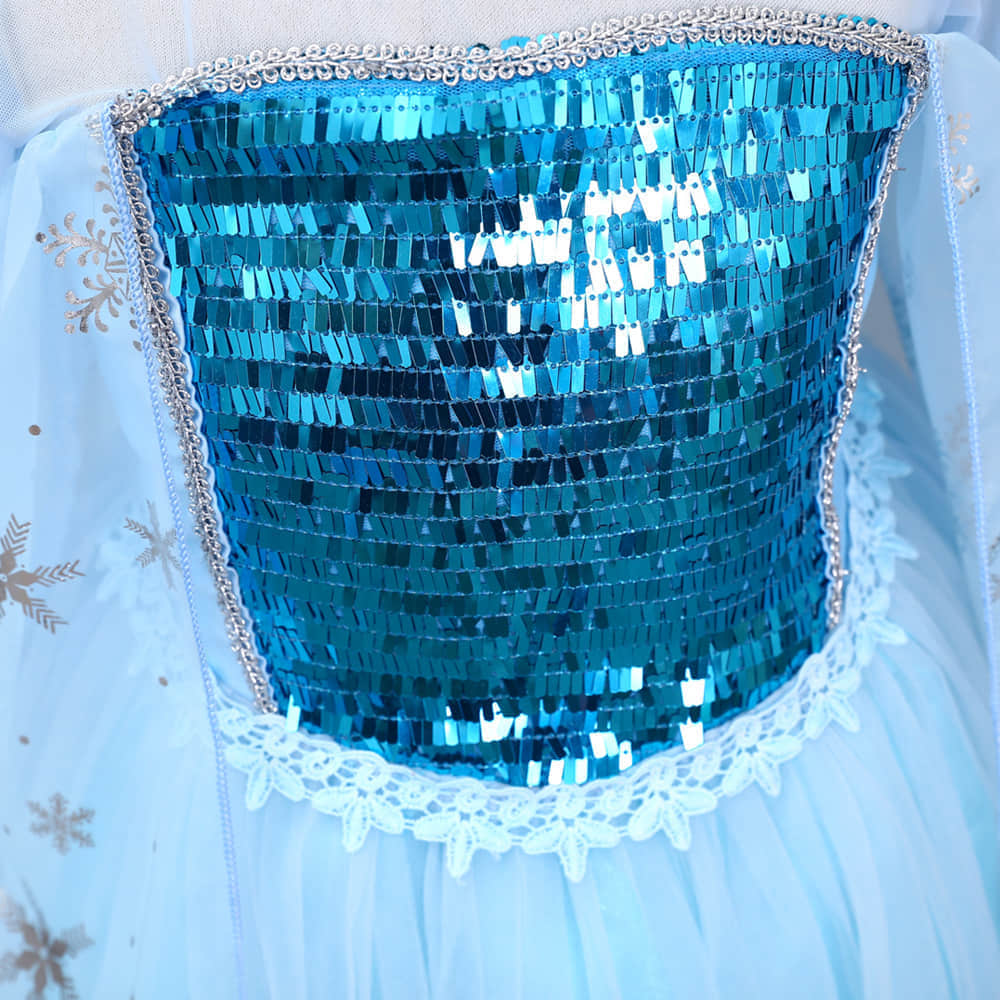 Glitter Sequins Bodice and Multi-Layer Tulle Skirt