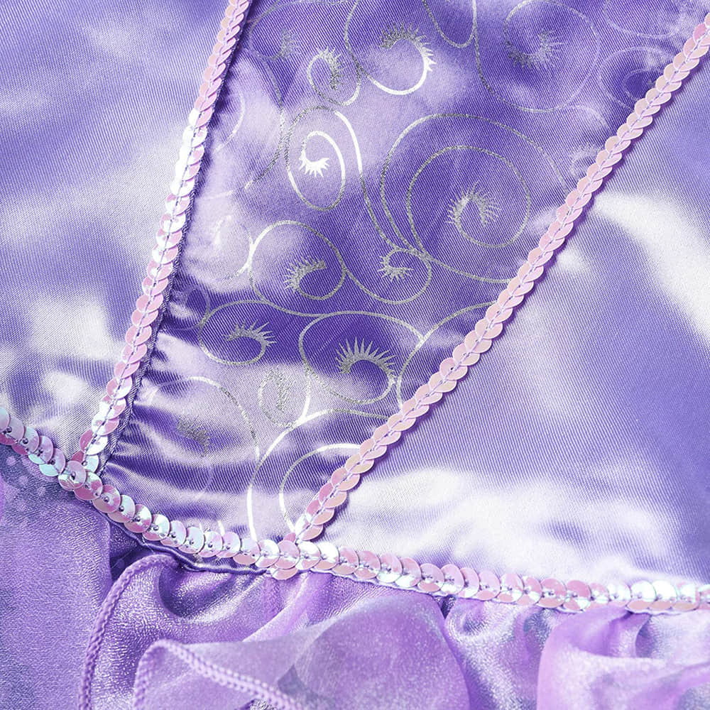 Glitter Sequins on the Bodice and Sea Wave Pattern