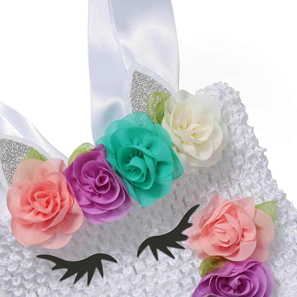 3D Flowers on the Bodice and Sleeveless Design