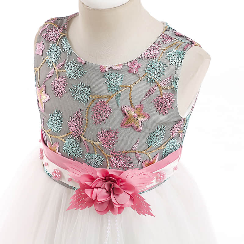 Embroidered Flowers on the Bodice