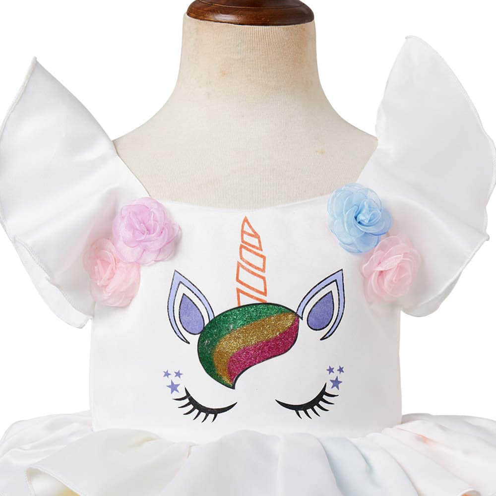Adorable Unicorn Pattern Embroidered on the Bodice