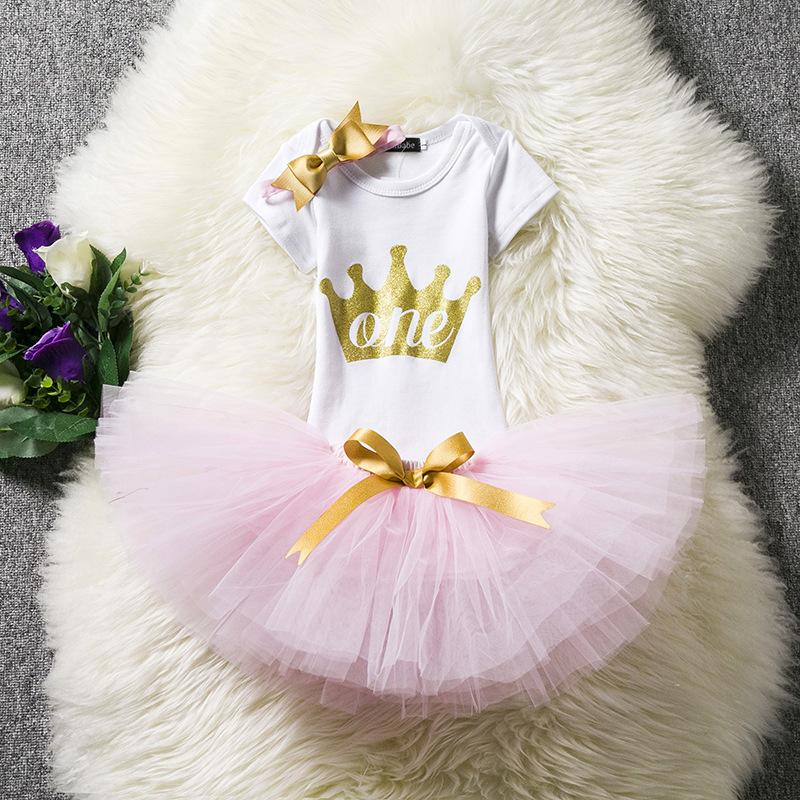 7f599348e42 1st Birthday Outfits Romper + Tutu Skirt + Headband For Baby Girls. Size  Guide. Please select size according to your baby and kid s height and weight