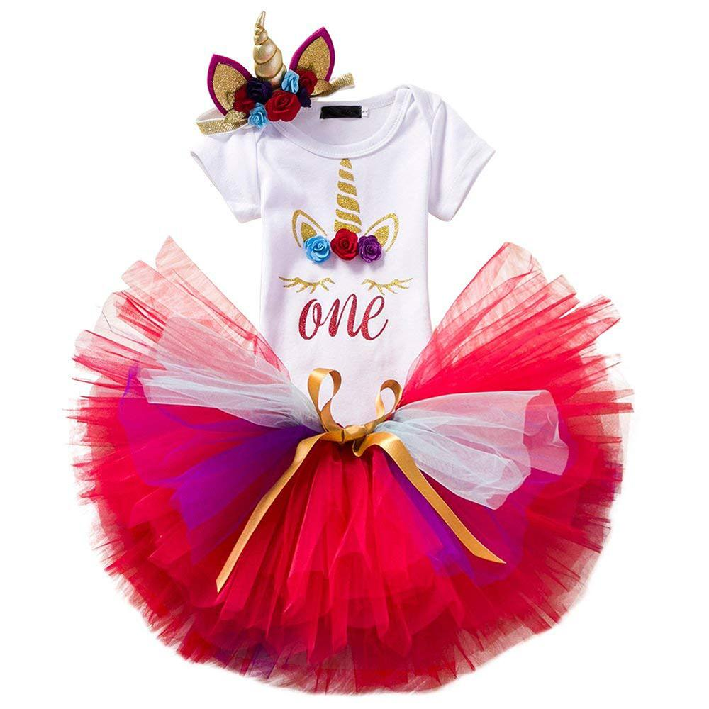 0cdadf4a905e2 Previous. Next. $21.99 $28.99. Add to Wishlist. Newborn baby girls summer 1st  birthday unicorn outfit sunsuit clothes ...