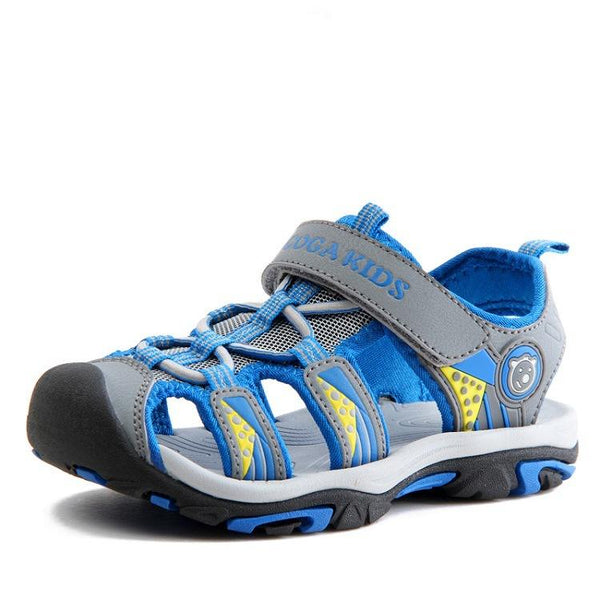 360bfca56a6d Closed-toe Outdoor Strap Adventure Sporty Sandals For Boys 33 Light blue