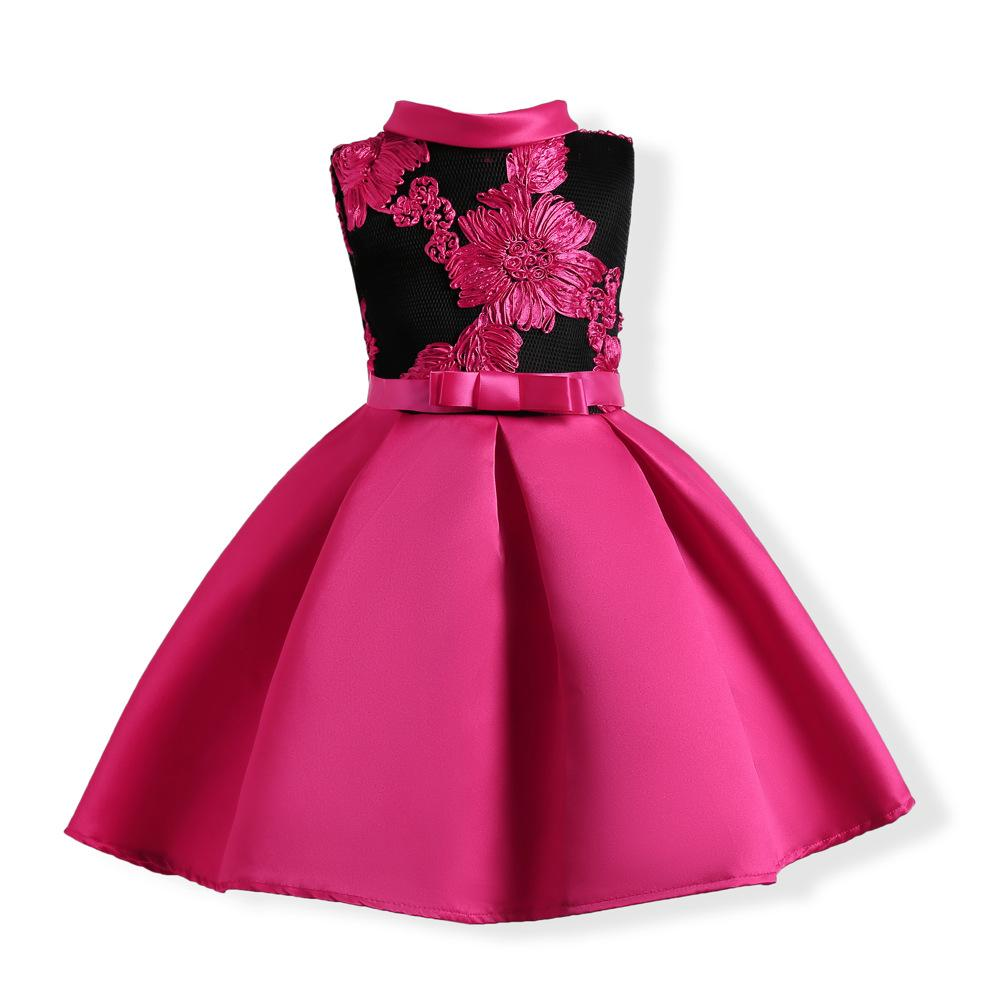 9bc1956ca54d5 Sleeveless Prom Dresses With Bow-tie for Little Girls