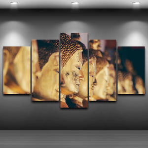 Gold Buddha Canvas Painting