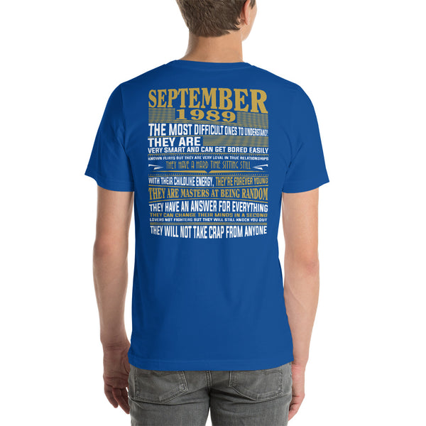 Born in september 1989 facts Short-Sleeve Unisex T-Shirt