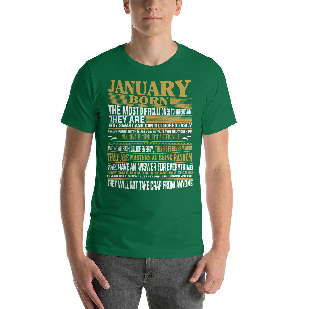 Born January Short-Sleeve Unisex T-Shirt