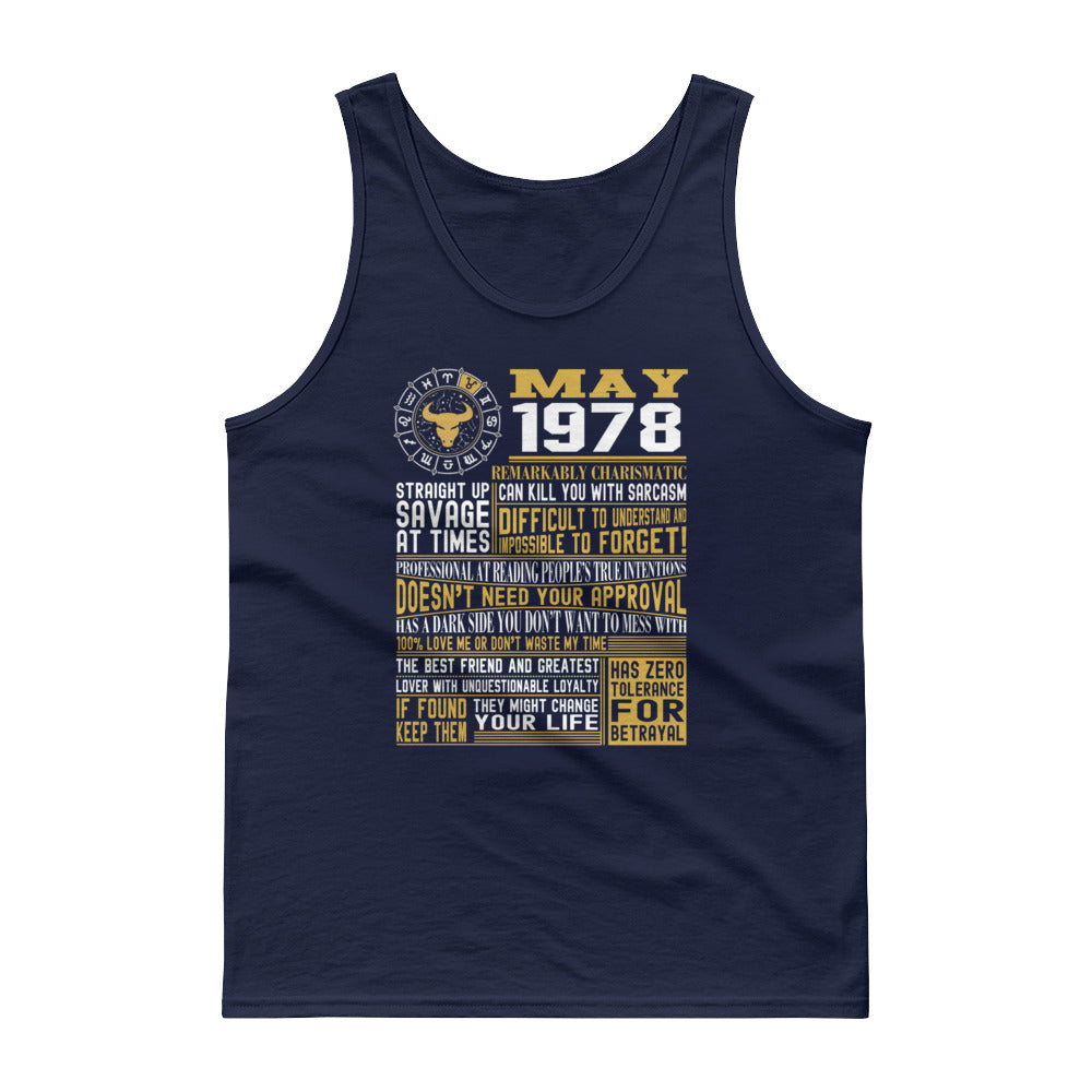 Born in May 1978 facts Tank top