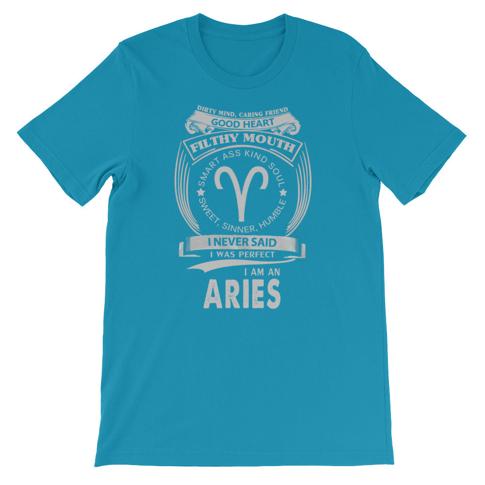 Aries born proud Short-Sleeve Unisex T-Shirt