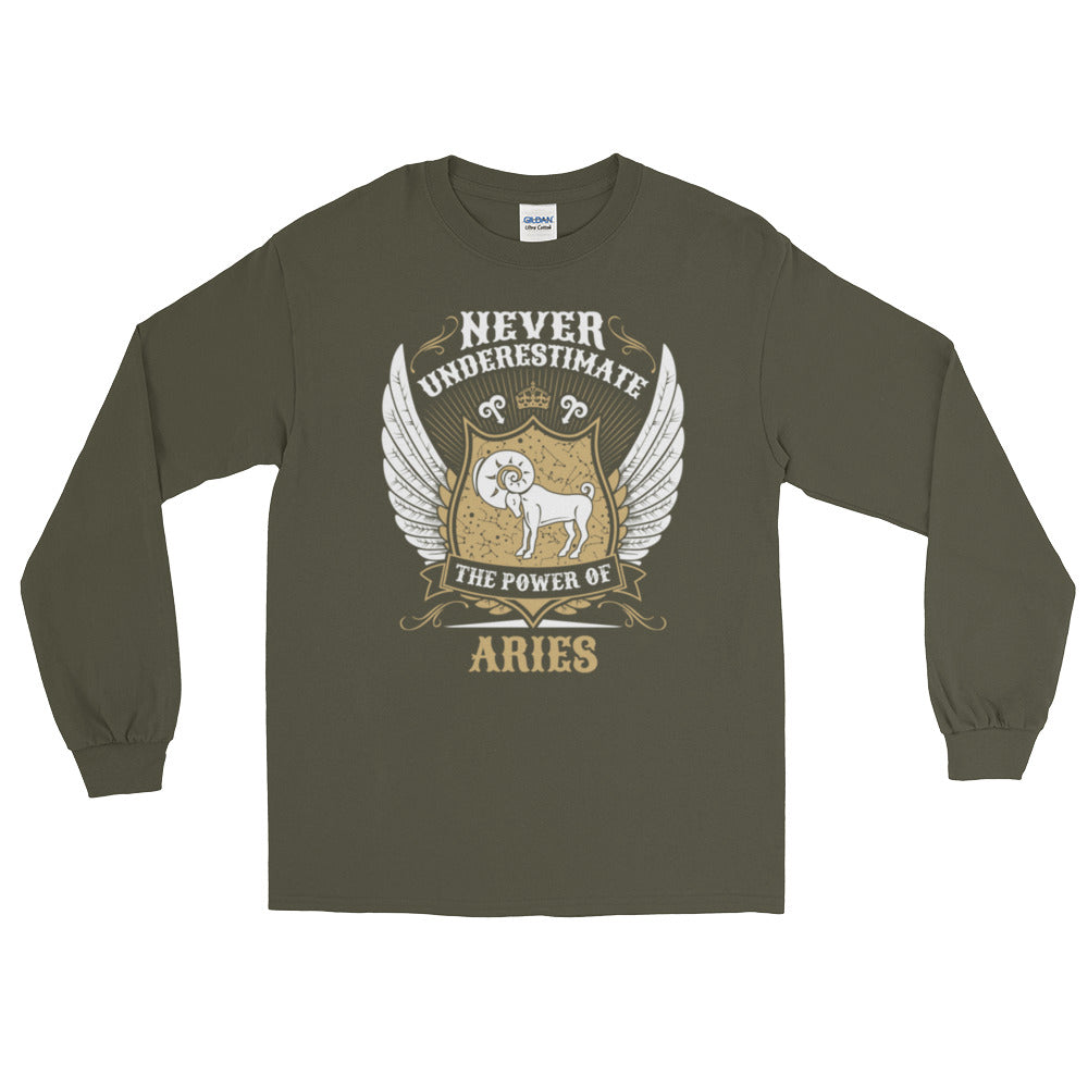 Aries power Long Sleeve T-Shirt