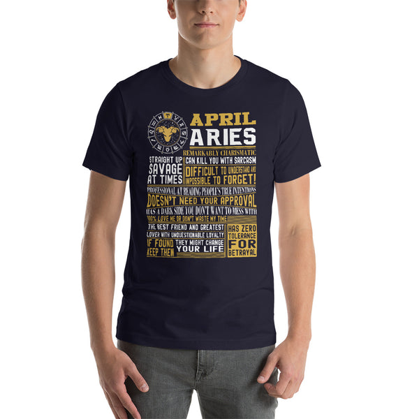 Born in April Aries facts Short-Sleeve Unisex T-Shirt