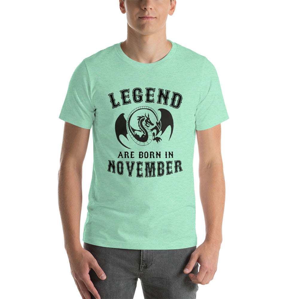 Legends are born in november Short-Sleeve Unisex T-Shirt