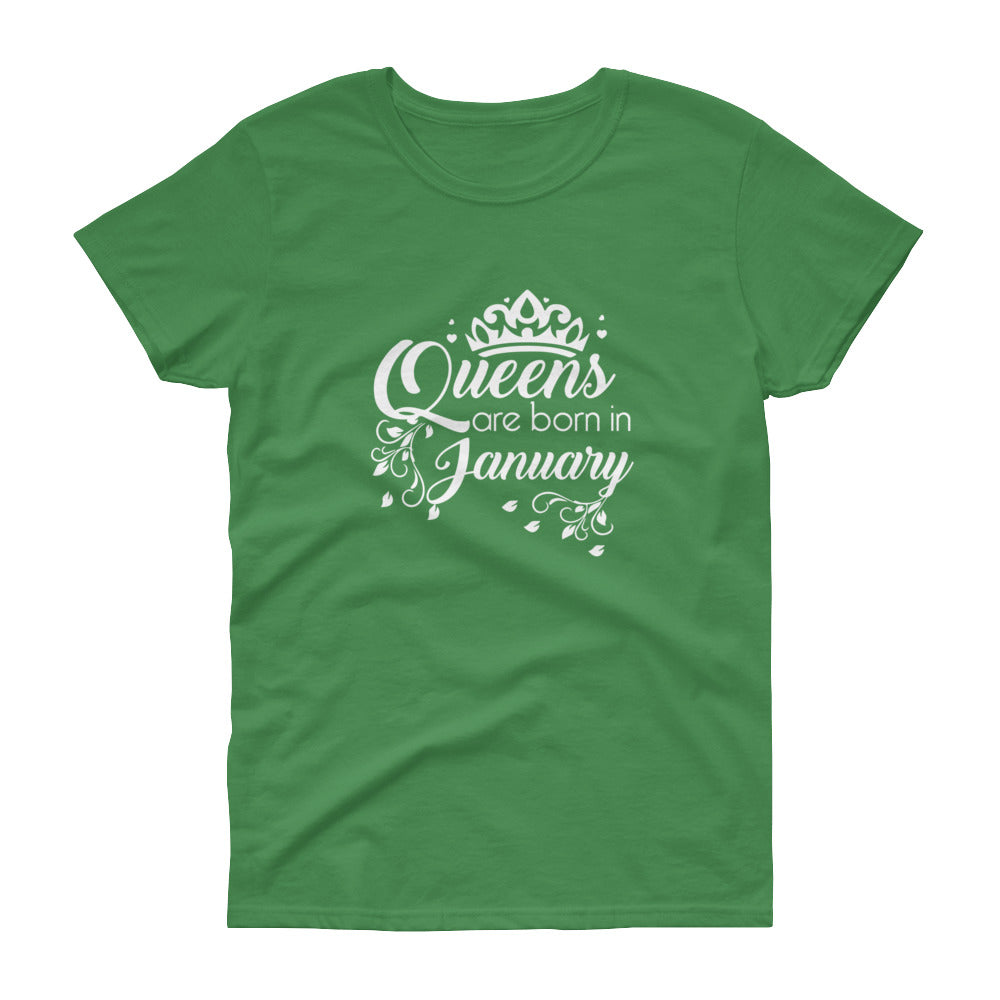 Queens are born in january Women's short sleeve t-shirt