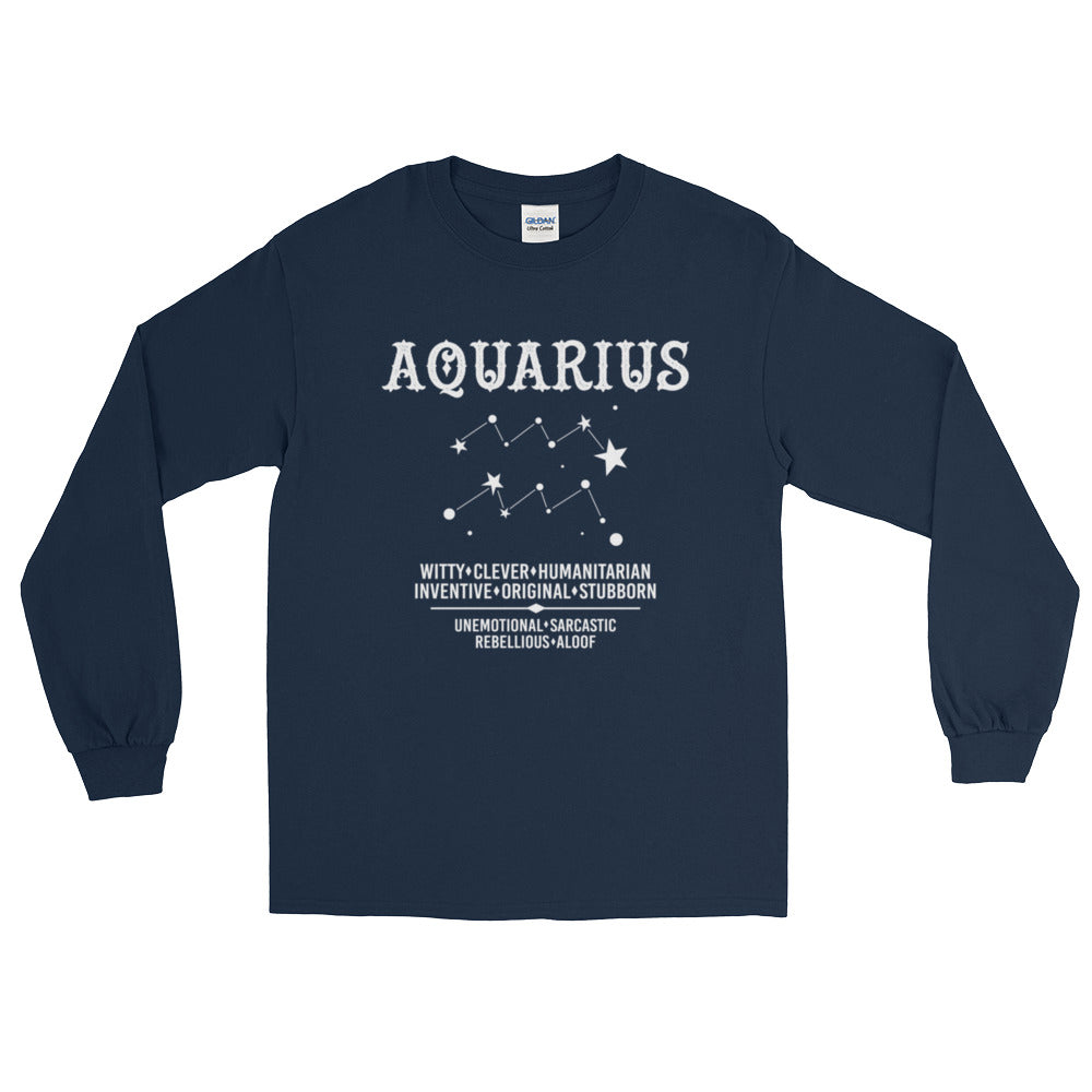 Born Aquarius proud Long Sleeve T-Shirt