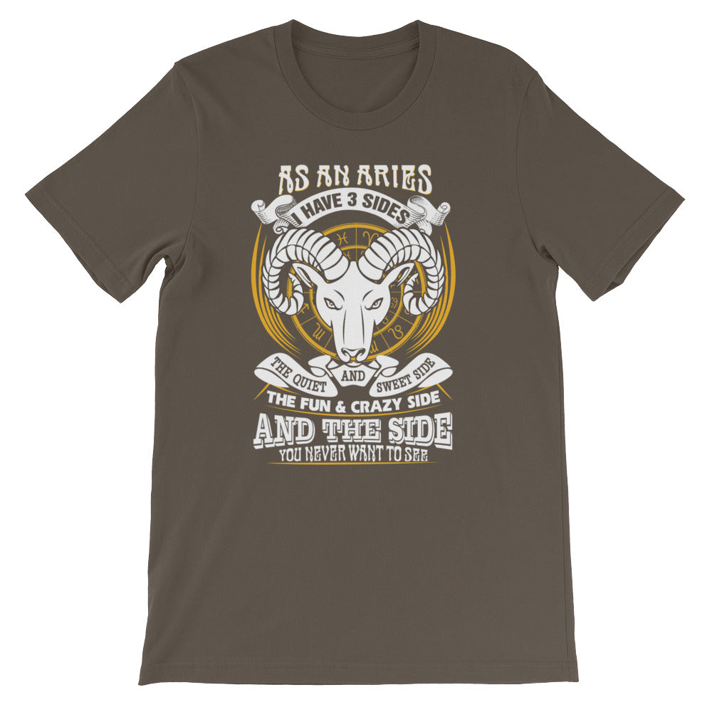 Aries born Short-Sleeve Unisex T-Shirt