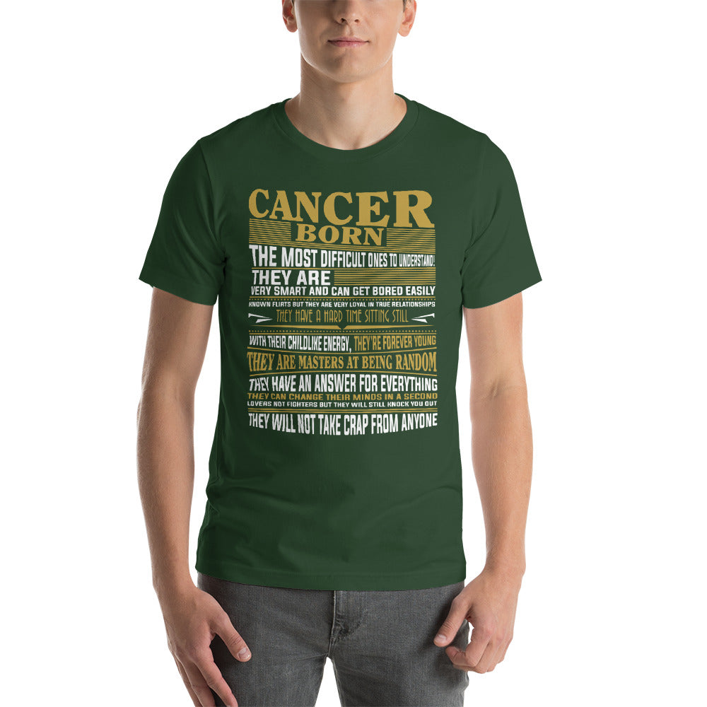 Born Cancer facts Short-Sleeve Unisex T-Shirt