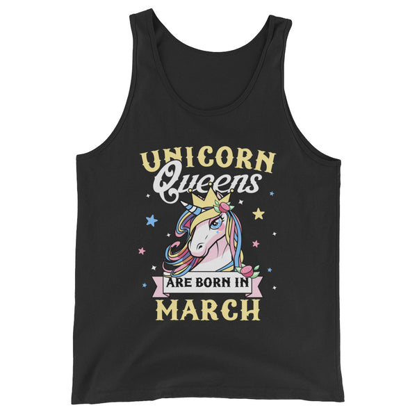 Unicorn Queens Are Born In March T shirt Pisces Gifts Unisex  Tank Top