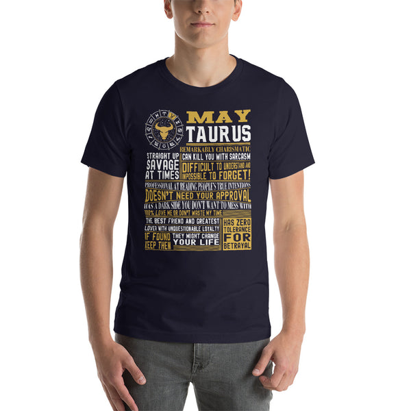 Born in May Taurus facts Short-Sleeve Unisex T-Shirt