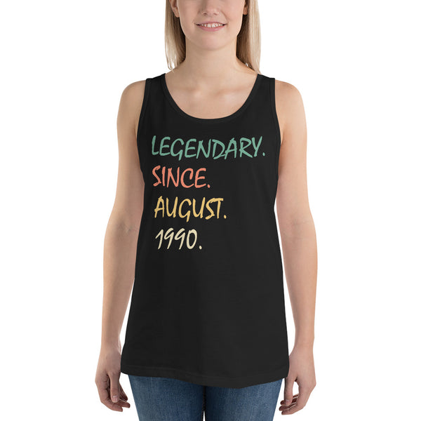 Legendary since August 1990 Unisex  Tank Top