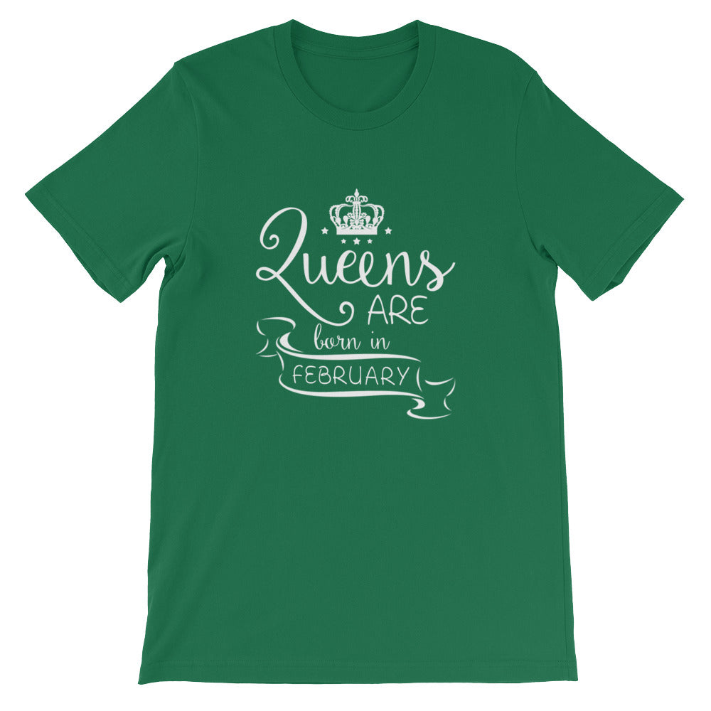 Queens are born in February Short-Sleeve Unisex T-Shirt