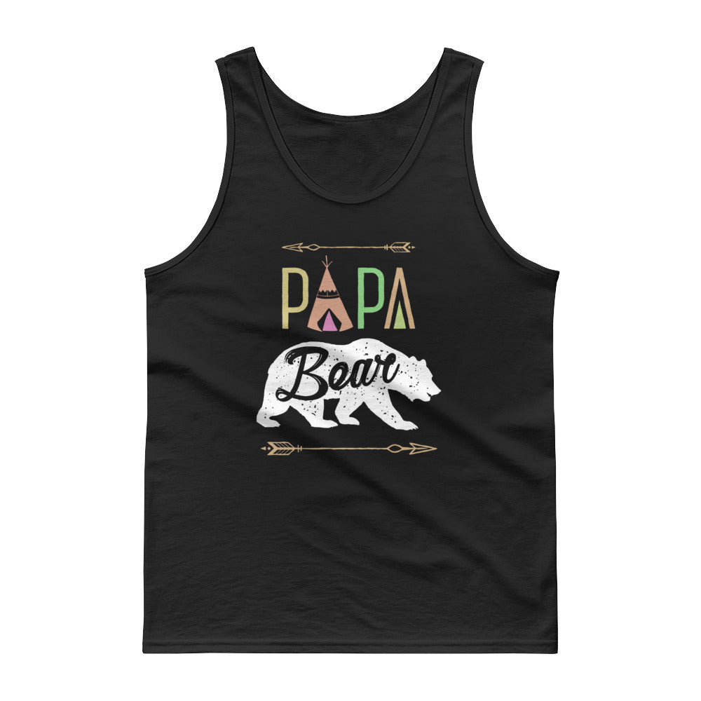 Papa Bear Mama Bear Family Matching Couple Tank top