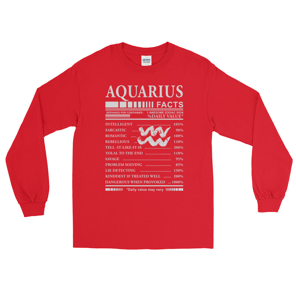 Aquarius Born Long Sleeve T-Shirt