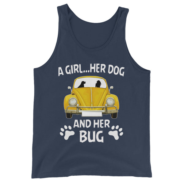 A girl her dog and her bug Unisex  Tank Top