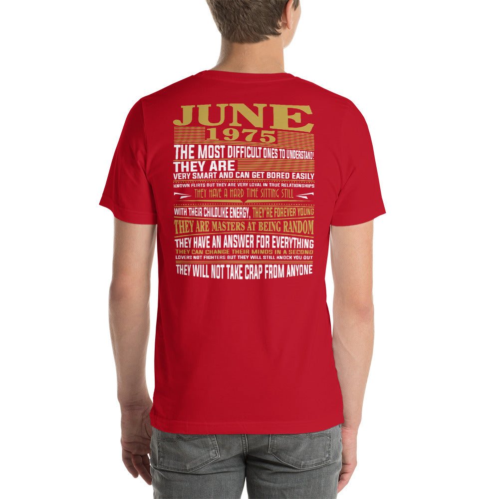 Born in june 1975 facts Short-Sleeve Unisex T-Shirt